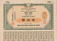 The Hypothec bank of Japan, 4% Bond, 75. Serie, 10 Yen