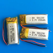 3 pcs 3.7v 150mAh Li Po Battery for MP3 DVD GPS Headphone Bluetooth PSP 501230