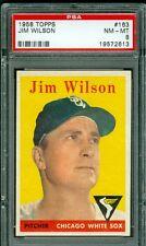 """1958 TOPPS #163 JIM WILSON PSA 8 (NM-MT) """"CENTERED"""" WHITE SOX"""