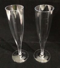 50 x 184ml Disposable Plastic Champagne Flutes Glasses