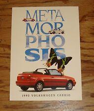 Original 1995 Volkswagen VW Cabrio Information Request Mailer Sales Brochure 95