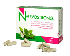Nervostrong B-Complex + Magnesium Nervous System Health 30 Caps