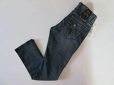 NWT Rock Revival Sebastian in A15 Teal Fleur De Lys Alt Straight Jeans 32 x 34