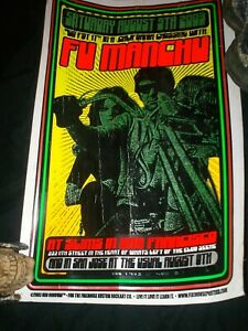 Fu Manchu concert poster