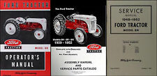 Ford 8N Tractor 3 Manual SET Owners Repair Assembly Books 1948-1949 1950 51 1952