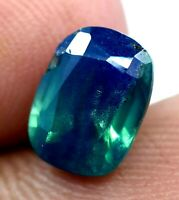 2.60 CT Natural Africa Bi-Color Sapphire AGSL Certified 9 x 6 mm Gemstone !