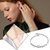 Open Heart Bracelet Charm Jewellery Women Ladies Gift New