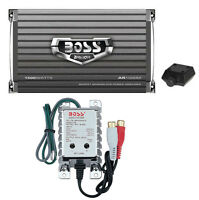 Boss Audio AR1500M 1500W MONO Car Amplifier Power Amp+Remote+High/Low Converter