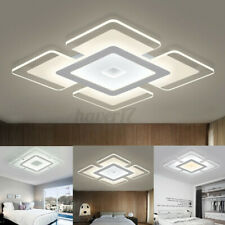 Modern Led Ceiling Light Square Acrylic Home Lamp Fixture Living Room/Bedroom Us