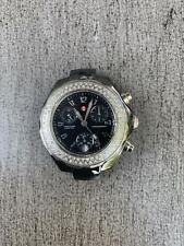 Michele Tahitian black ceramic watch face 100 Diamonds .47 ct tw