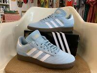 "Adidas Busenitz Pro Men's Skateboard Shoes - ""Ash Grey"" (Light Blue), White, Gum"