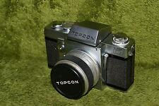 Vintage Beseler Topcon Super D Film Camera 35mm Re Auto Topcor 1:1.8 f=58mm Lens