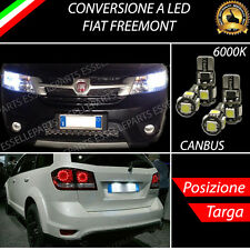LUCI POSIZIONE A LED + LUCI TARGA A LED CANBUS FIAT FREEMONT NO ERRORE