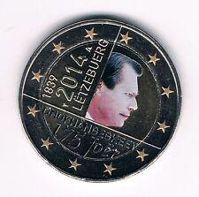 2 Euro Farbmünze Luxemburg 2014 Unabhängigkeit ** in Farbe / coloriert