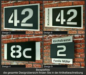 3D Hausnummer Hausnummernschild Acryl Edelstahl Design Modern anthrazit schwarz
