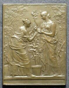 French Art Nouveau plaque Horticulture by Daniel-Dupuis (1892)