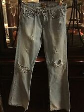 Womens Abercrombie & Fitch Vintage Denim Jeans Madison Flare Size 2R - Regular