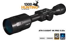 ATN X-SIGHT 4K PRO 5-20X Smart Ultra HD day & night rifle scope DGWSXS5204KP