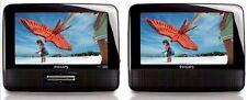 "Philips PET7402A/37 Black 7"" Dual-Screen Portable DVD Player Stereo Speaker JPEG"