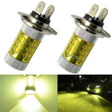 2PC H7 4300K Yellow LED Fog Driving Light Samsung 2323 80W High Power DRL Bulb