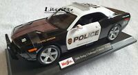MAISTO 1:18 Diecast Model Car Dodge Challenger Concept Police Black and White
