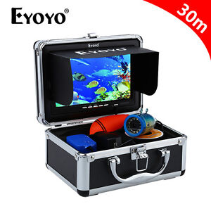 "30M 7"" Monitor 1000TVL Sea Fish Finder Underwater Fishing Camera+ Lights Control"