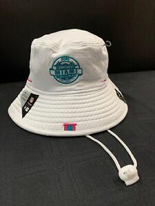 SUPER BOWL LIV MIAMI HOST COMMITTEE NEW ERA WHITE/TEAL BUCKET HAT W/DRAWSTRING
