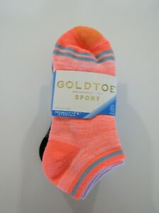 Gold Toe Womens Sport MOBILITYFX Stretch 6 Pack Socks Nwt