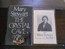 THE CRYSTAL CAVE, Mary Stewart, SIGNED 1st ed/1st print US 1970 HCDJ, (Merlin)