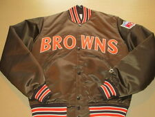 Vintage Cleveland Browns Starter Satin Snap Up Insulated Jacket Adult Small NICE