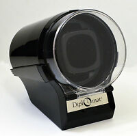 Black Diplomat Watch Winder Case Box Storage Timer Automatic glossy