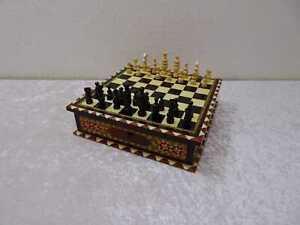 Khatam Holz Schach Box mit Schubladen Persien ? Syrien ? Vintage-Stil Intarsien