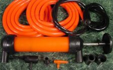 Gas Siphon Pump and Inflator Transfer fuel oil water Includes Adapters & Hoses n