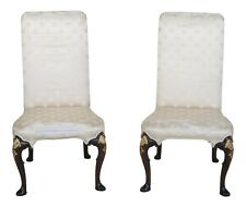 43913EC: Pair KITTINGER CW-67 Colonial Williamsburg Upholstered Mahogany Chairs