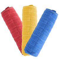 3pk Multi-purpose Microfibre Cloths Home Car Glass Washable Clean Dust Polish