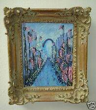 """Vintage Perry A. Coyle Original Impressionist Painting """"4th of July"""" St Louis Mo"""