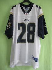 Maillot Los Angeles Rams Faulk #28 Blanc Football Americain Reebok jersey - L