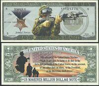 US COAST GUARD MILLION DOLLAR BILL LOT OF 25 BILLS