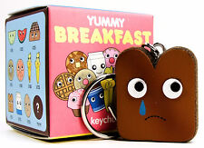 Kidrobot Yummy Breakfast SAD CRYING TOAST CHASE Keychain Zipper Pull Vinyl Toy