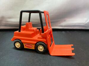 Vintage Tonka Mini Forklift Pressed Steel & Plastic Great Condition Orange Color