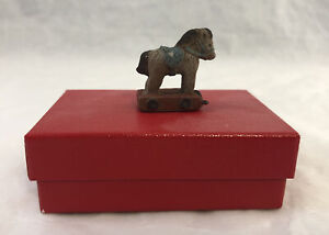 Vintage Sarah's Attic Mini Horse Wooden Figurine #1932