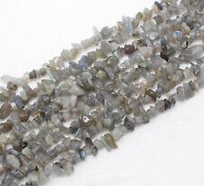 "5-10mm x 34"" Strand Labradorite Semi Precious Gemstone Chips Gravel Beads"