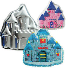 3D Castle Cake Chocolate Cube Tray Soap Fondant Mould Mold Tin Pan
