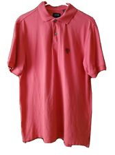 Izod Silk Wash Pique 100% Cotton Golf Polo Shirt Mens S Muted Red Short Sleeve