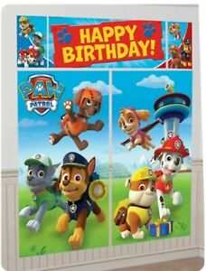 Paw Patrol Pets Birthday Scene Setter Banner Wall Party Decoration Kit BY AMSCAN