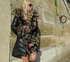"""doudoune femme cuir agneau fourrure renard amovible """"esteban """""""