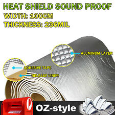 Car Sound Deadener Noise Control Heat Shield Insulation Material Mat 236mil 3Sqm