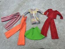 Lot of 1970s Doll Clothes Handmade Courderoy Striped Bellbottoms Tall Doll