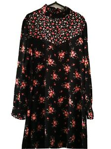 Black Floral Dress Size 18