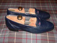 Don Comodon de Algogar Navy Moc Toe Loafers, made in Spain, Size 43 EU/10 US